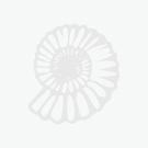 Pendant Rose Quartz Tumble Electroplated Silver Plate (1pc) NETT