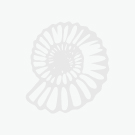 Pendant Metal Leaf w/Quartz Cluster Silver Plated (1pc) NETT