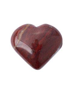 Petrified Wood Puff Heart 25-30mm (1pc) Nett