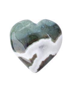 Green Sardonyx Puff Heart 25-30mm (1pc) NETT
