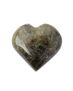 Vesuvianite Puff Hearts 25-30mm (1pc) Nett