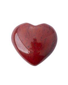 Red Jasper Puff Heart 25-30mm (1pc) Nett