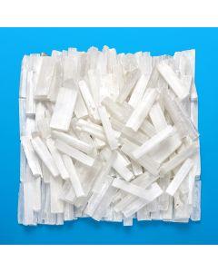 Selenite Sticks 1 carton, approx 10 cm, 14kg per carton 22pcs per kilo NETT