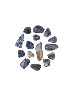 Sodalite Spotted Blue Tumblestone 16-19mm (KGS) NETT