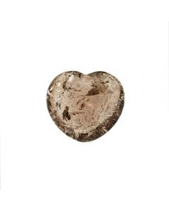 Smokey Quartz Puff Heart 45mm x 40mm x 20mm (1pc) NETT