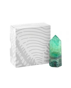 Rainbow Fluorite Standing Polished Point approx 90mm THICK (1pc Boxed) NETT