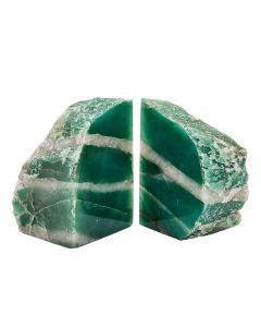 Green Aventurine/Quartz  Bookends (3-4kg) (Pair) NETT