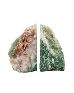 Green Aventurine/Quartz  Bookends (4-5kg) (Pair) NETT