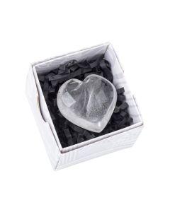 Rock Crystal heart approx 50 mm (1 piece) NETT