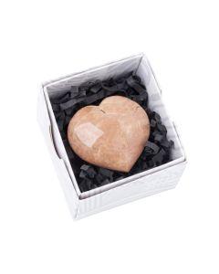 Pink Moonstone Heart approx 50 mm (1 pc) NETT