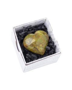 Green Opal Heart approx 50 mm (1pc) NETT