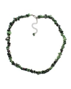 "18"" Chip Ruby Zoisite Necklace + Ext Chain (1 Piece) NETT"