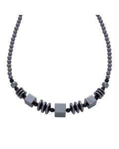 "18"" Multi Shaped Hematine Bead Necklace (1pcs) NETT"