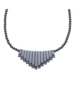 "18"" Hematine Bead Necklace Graduated Egyptian Style (1pcs) NETT"