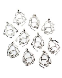 Make Your Own Wire Wrap Pendant (Takes 20-30mm Stone) (10 Piece) NETT