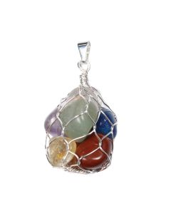 Pendant 7 Chakras in Wire Bag Silver Plated (1 Piece) NETT