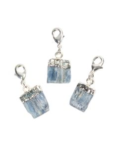 Mini Rough Kyanite Charm, Silver Plated (1pc) NETT