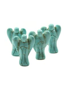 """1"""" Dyed Turquoise Pocket Angel (4 Piece) (Was £2 Now £1) NETT"""
