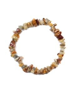 "7.5"" Chip Bracelet Crazy Lace Agate (1 Piece) NETT"