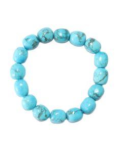 Howlite Turquoise Tumblestone Bracelet (1 Piece) NETT