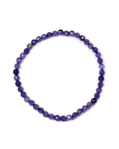 4mm Facet Bracelet Amethyst (1 Piece) NETT