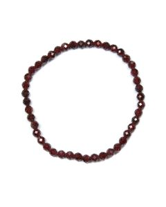 4mm Facet Bracelet Garnet (1 Piece) NETT