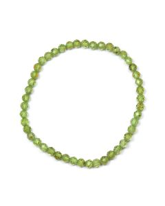 4mm Facet Bracelet Peridot (1pc) NETT