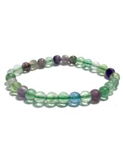 6mm Fluorite Bead Bracelet (1pc) NETT