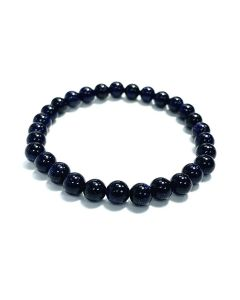 6mm Blue Goldstone Bead Bracelet (1piece) NETT
