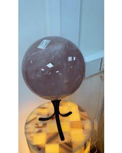 Rose Quartz Sphere 220mm 14.35kgs, Madagascar (1pc) SPECIAL