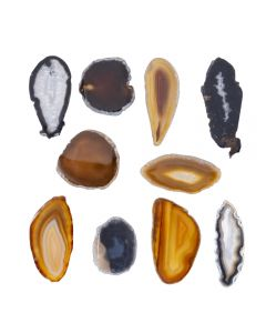 """A00 Agate Slice Natural (up to 2"""") (10pcs) NETT"""