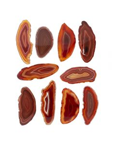 """A0 Agate Slice Red (up to 2"""") (10 Piece) NETT"""