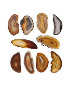 """A0 Agate Slice Natural (up to 2"""") (10 Piece) NETT"""