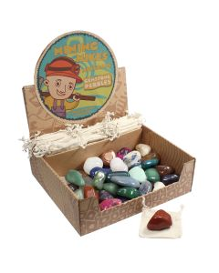 Mining Mike's Gemstone Pebble Retail Box (50 Piece) NETT