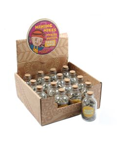 Mining Mike's Pyrite (Fools Gold) Bottles Retail Box (16pcs) NETT