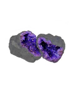"Purple Quartz Geode 2-3"" (1 Pair) NETT"