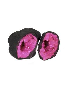 """Pink Quartz Geode 2-3"""" (1 Pair) NETT"""