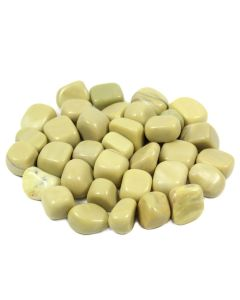 Olive Jade 20-30mm Medium Tumblestone (250g) NETT