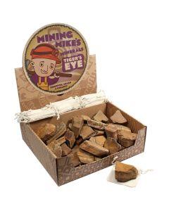 Mining Mike's Rough Tiger Eye Retail Box (50 Piece) NETT