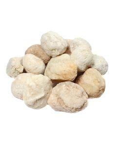 "White Quartz Geode (Unbroken) 2-4"" (1kg) NETT"