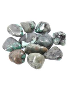 Emerald 20-30mm Medium Tumblestone (100g) NETT
