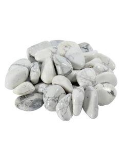 Howlite White South African Shape 20-30mm Medium Tumblestone (250g) NETT