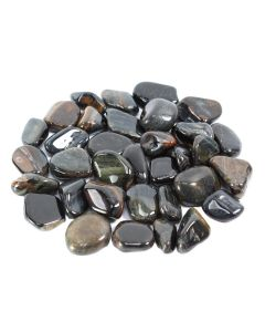 Tiger Eye Blue South African Shape 20-30mm Medium tumblestone (250g) NETT