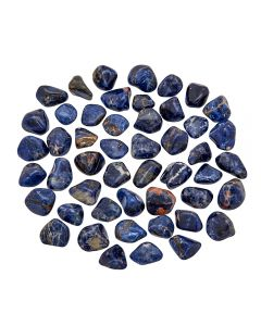 Sodalite Spotted Blue (250g) 10-20mm Small (SA Shape) tumble NETT