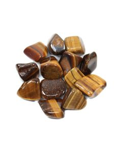 Tiger Eye Gold South African Shape 10-20mm Small Tumblestone (100g) NETT