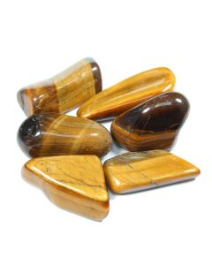 Tiger Eye Gold (South African Shape) 40-50mm Extra Large Tumblestone (100g) NETT