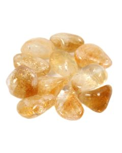Citrine Heat Treated Extra Quality 20-30mm Medium Tumblestone Brazil (100g) NETT