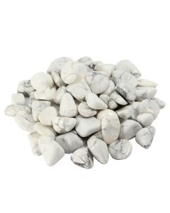 Howlite White South African 10-20mm Small Tumblestone (250g) NETT
