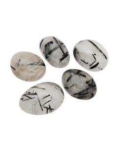 Tourmaline in Quartz Extra Quality (100g) 30-40mm Large Tumblestone NETT