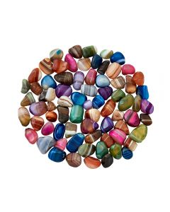 Agate Banded 7 Colour mix (100g) 10-15m Ex Small Tumbled NETT